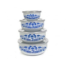 BANQUET 8-teiliges Set von emaillierten Schalen Belly ONION 1320058D