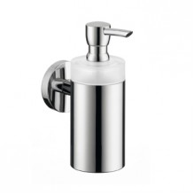 Hansgrohe Logis E/S Lotionspender aus Glas brushed nickel 40514820