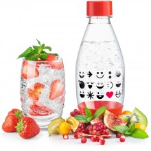 SODASTREAM Kinderflasche 0,5l Smiley rot 42002837
