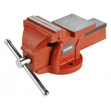 EXTOL PREMIUM bench vice 100mm, fixed base with anvil, 4.5kg 8812612