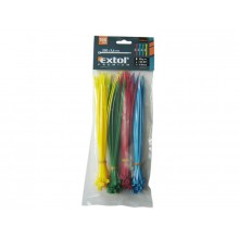 EXTOL PREMIUM cable ties 3,6x200mm 100pcs, colored nylon