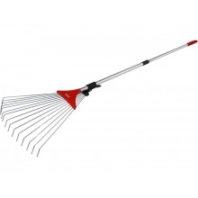 EXTOL PREMIUM adjustable lawn rake, telescopic handle 80-158cm, width 18-59cm