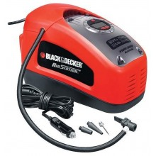 BLACK & DECKER Kompressor mit 12V oder 230V, 11 bar, 160 PSI, Pumpstation ASI300