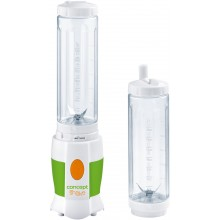 CONCEPT SM-3350 Smoothie Maker SHAKE AND GO mit 2 Flaschen, 500ml, 180W sm3350