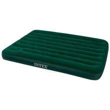 INTEX Queen Downy Bed Luftbett Outdoor mit Pumpe 203 x 152 x 22 cm, 66929