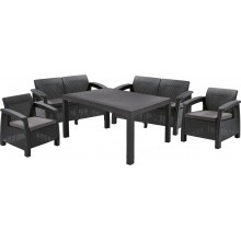 ALLIBERT CORFU FIESTA Lounge Set, graphit/grau 17198008