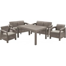 ALLIBERT CORFU FIESTA Lounge Set, cappuccino/sand 17198008