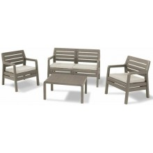 ALLIBERT DELANO Lounge Set, cappuccino/sand 17201088