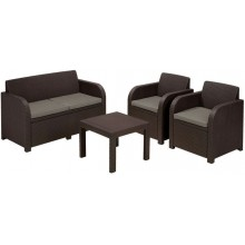 ALLIBERT GEORGIA Lounge-Set, braun/grau-beige 17199879