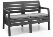 ALLIBERT DELANO Garten - Bank 124 x 65 x 77cm, graphit/grau 17205384