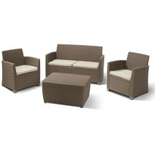 ALLIBERT CORONA Lounge Set, cappuccino/sand 17198017