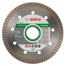 BOSCH Diamanttrennscheibe Best for Ceramic Extra-Clean Turbo, 115x22,23x1,4x7mm