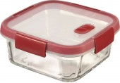 CURVER SMART COOK 0,7L Glasbehälter 15x15x7cm Transparent/Rot 00115-472