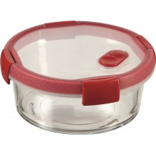 CURVER SMART COOK 0,6 L Glasbehälter 16x7cm Transparent/Rot 00117-472