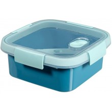 CURVER SMART TO GO 0,9L Lunchbox + Besteck 16x16x7cm blau 00949-Y33