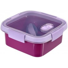 CURVER SMART TO GO 0,9L Lunchbox + Besteck 16x16x7cm lila 00949-Y34