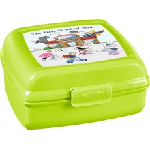 CURVER BACK TO SCHOOL 0,9L Sandwichbox, Lunchbox 13,7 x 13,6 x 6,5 cm 02276-B83