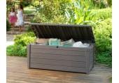 KETER Kissenbox Brightwood, Holzoptik, Kunststoff, taupe, 455 Liter,  17198359