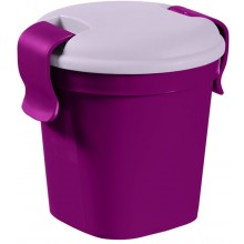 CURVER LUNCH & GO S 0,4L 11x11x11cm Becher violet 00739-B35