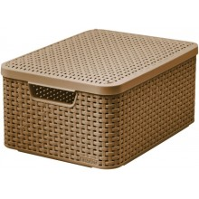 "CURVER Aufbewahrungs box RATTAN Style ""M"" 18 L mocca 03618-213"