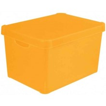 CURVER STOCKHOLM Dekorative Box durchsichtig Orange 39,5 x 29,5 x 25 cm