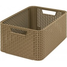 "CURVER Aufbewahrungs box RATTAN Style ""M"" mocca 18 L 03615-213"