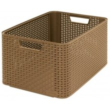 CURVER Rattan Style box 2 L, 43,6 x 22,8 x 32,6 cm, mocca, 03616-213