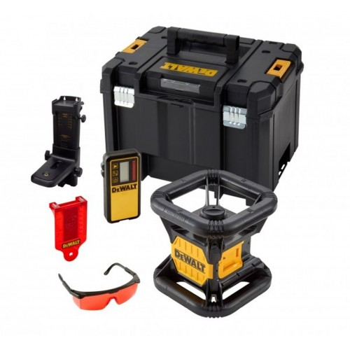 DeWALT 18,0 V Rotationslaser mit Einfach-Lot - roter Laser (Basisversion) - DCE074NR-XJ