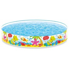 INTEX Quick Snap-Pool Kinderbecken Unter den Palmen 152 x 25 cm 56451NP