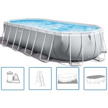 INTEX Frame Pool Set Prism Oval 610x305x122 cm 26798GN