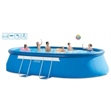 INTEX Oval Frame Pool Set 610 x 366 x 122 cm, 28194GN