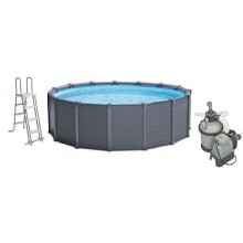 INTEX Graphite Panel Pool O 478 cm, 28382GN