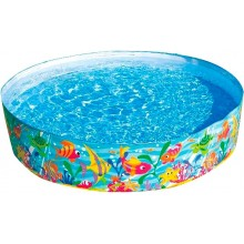 INTEX Quick Snap-Pool Kinderbecken Fische 183 cm