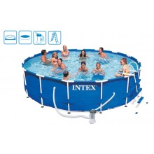 INTEX Metal Frame Pool Komplett 457x107 28234GN