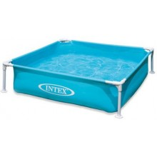 INTEX Frame Pool Mini - Blau 122 x 122 x 30 cm,57173