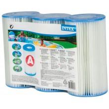 INTEX Filter 3 Cartridges Pack A Type 29003