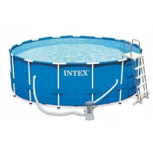 INTEX Swimming Pool O 457 x 122 cm Frame Set Rondo blau 28242GN