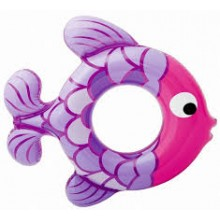 INTEX Schwimmring Fish lila