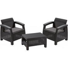 KETER BAHAMAS WEEKEND Lounge-Set, graphit/grau 17205922