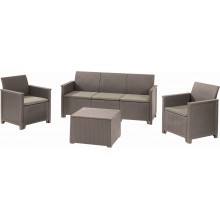 KETER EMMA 3 SEATER Lounge Set 4-tlg., cappuccino/sand 17209488