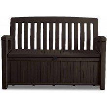 KETER PATIO BENCH Gartenbank Kissenbox 227 l, braun