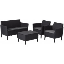 KETER SALEMO Lounge-Set, graphit/grau 17206003