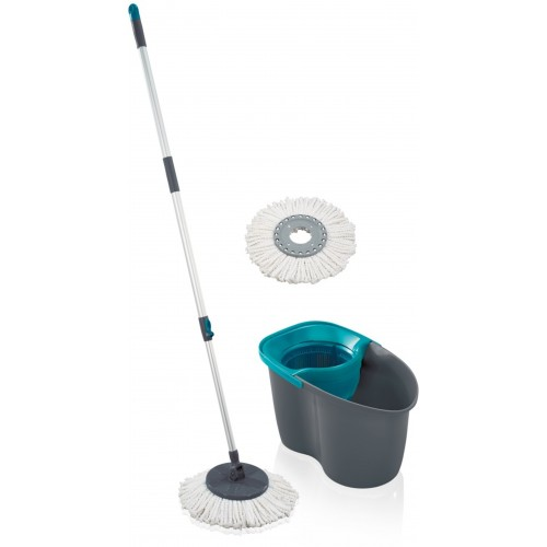 LEIFHEIT zestaw Rotation Disc Mop grey lagoon 55269