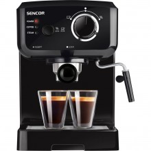 SENCOR SES 1710BK coffee machine with cappuccinatore