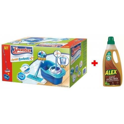 Spontex Express System Plus Bodenwischer Set + Alex Cleaner Extra Care 97050360
