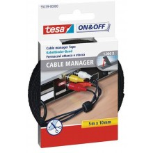 TESA On & Off Cable Manager schwarz 5 m x 10 mm 55239