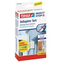 TESA Insect Stop Fliegengitter ALU Comfort Adapter-Set weiss 55193