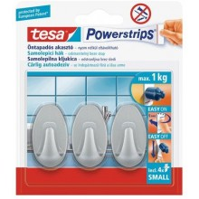 TESA Powerstrips® Haken Small Oval matt chrom 57519
