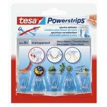 TESA Powerstrips® DECO Haken SMALL transparent 58900