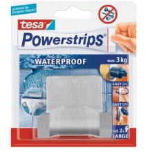 TESA Powerstrips® Waterproof Duohaken Zoom, Metall 59710